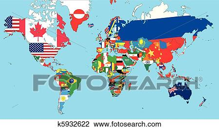 Clipart of the world map k5932622 search clip art illustration clipart the world map fotosearch search clip art illustration murals drawings gumiabroncs Image collections