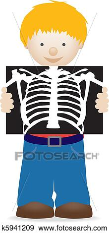 stock illustration of child holding an xray k5941209 search rh fotosearch com chest x ray clipart x ray machine clipart