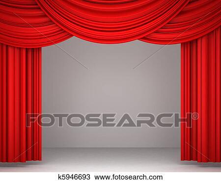 dessin rouges th tre rideau k5946693 recherchez des cliparts des illustrations et des. Black Bedroom Furniture Sets. Home Design Ideas