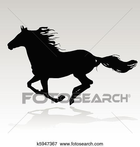 Clipart cheval courant k5947367 recherchez des cliparts des illustrations des dessins et - Clipart cheval ...