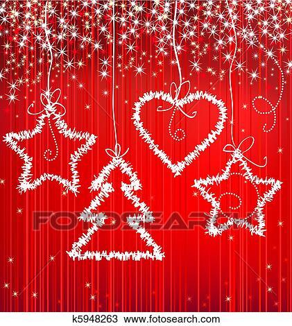 zeichnung weihnachten rot funkeln hintergrund mit. Black Bedroom Furniture Sets. Home Design Ideas