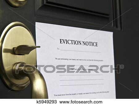 Stock Photo Of Eviction Notice Letter On Door K5949293