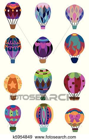 clip art karikatur hei luft ballon symbol k5954849 suche clipart poster illustrationen. Black Bedroom Furniture Sets. Home Design Ideas