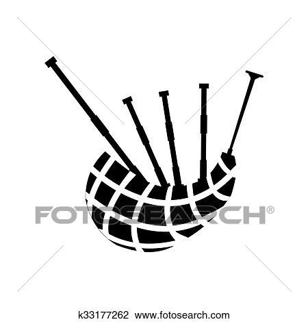 clip art of scottish bagpipe icon k33177262 search clipart rh fotosearch com bagpipe clipart free bagpipe image clipart
