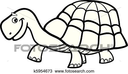 Clipart of Turtle for coloring book k5954673 - Search Clip Art ...