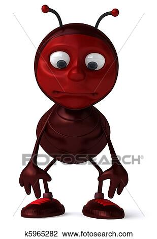 Clip Art of Ant k5965282 - Search Clipart, Illustration Posters ...