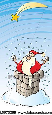 剪贴画 - 圣诞老人, 粘贴