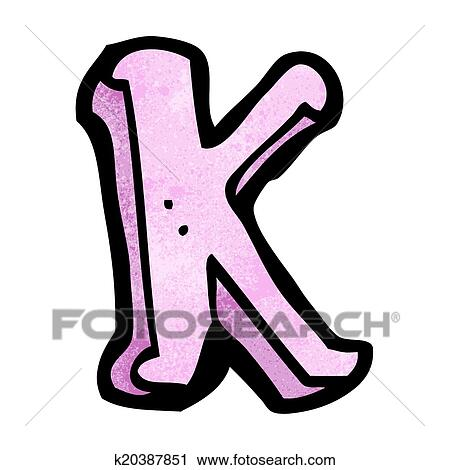 clipart of cartoon letter k k20387851 search clip art rh fotosearch com clipart letter k letter c clipart