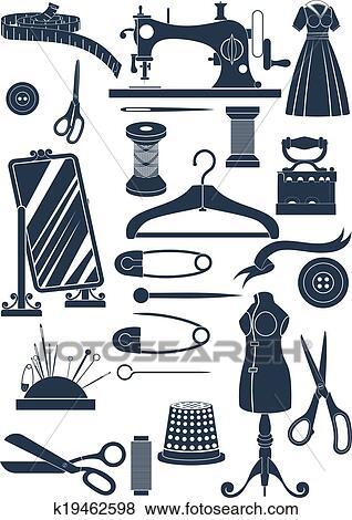 clipart couture accessoires k19462598 recherchez des cliparts des illustrations des. Black Bedroom Furniture Sets. Home Design Ideas