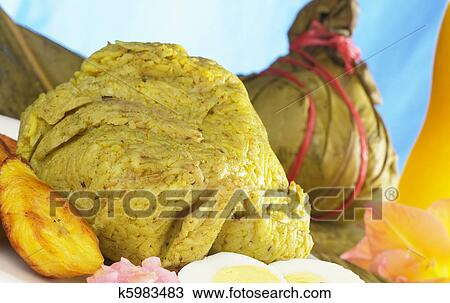 Stock photo of traditional peruvian food called juane from for Art of peruvian cuisine