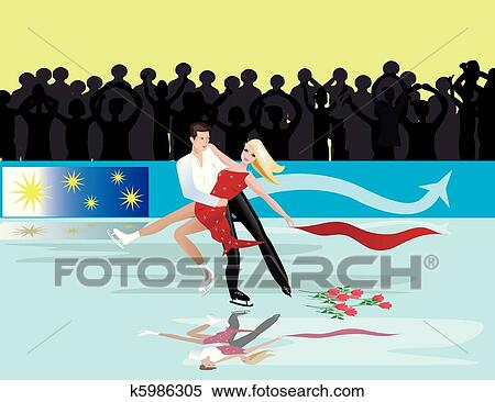 Figure skating drawings