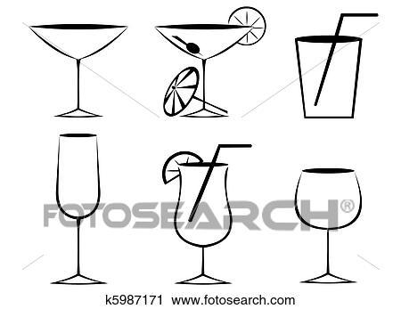 剪贴画 - 玻璃杯, 概述