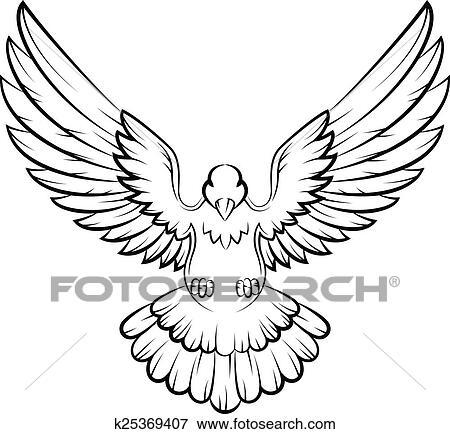 Clip Art - cartone animato, colomba, uccelli, logotipo, per, pace ...