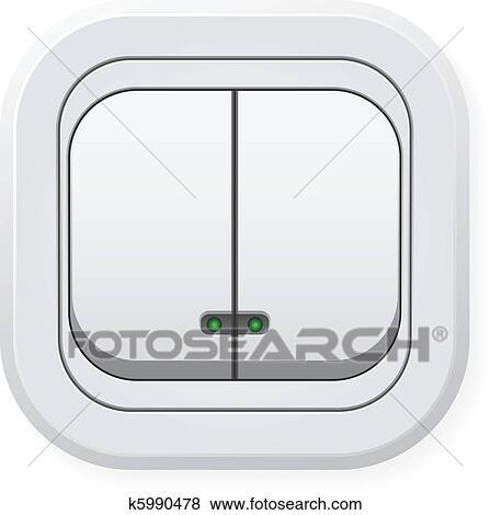 Lichtschalter clipart  Clip Art - doppelgänger, leichter schalter k5990478 - Suche ...