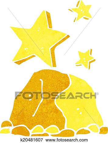 Clip Art of cartoon gold nugget k20481607 - Search Clipart ...