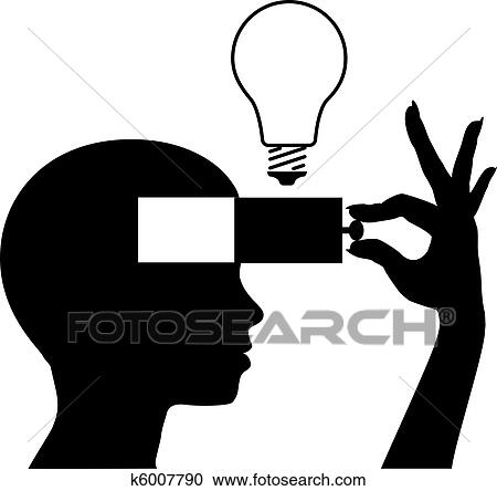 clipart of open a mind to learn new idea education k6007790 rh fotosearch com minecraft clipart mine clip art