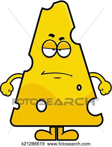 clip art of cartoon swiss cheese grumpy k21286619 search clipart rh fotosearch com Swiss-cheese Clip Art Black and White swiss cheese clipart