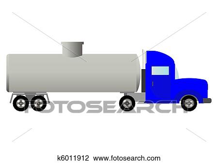 clipart of tank truck (illustration). k6011912 - search clip art