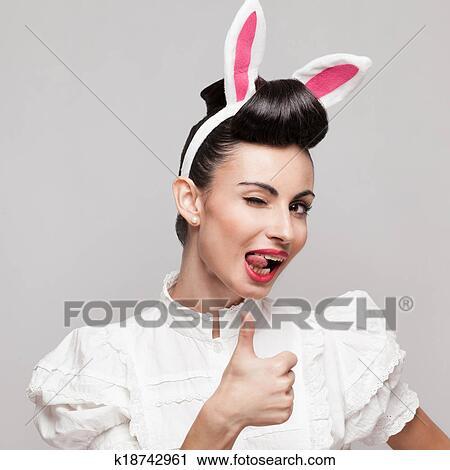 Heiße sexy Mädchen Daumen