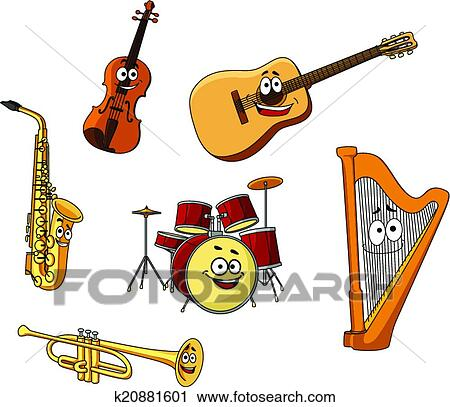 Clipart of Set of classic musical instruments k20881601 - Search ...