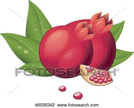 剪贴画 石榴, 水果