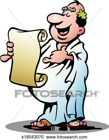 clipart of happy greek priest k18043070 search clip art rh fotosearch com clipart priest saying mass priest clipart free