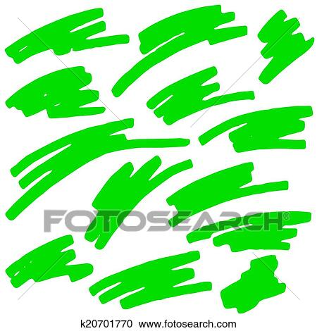 Clipart of Colored markings of a highlighter pen k20701770 ...