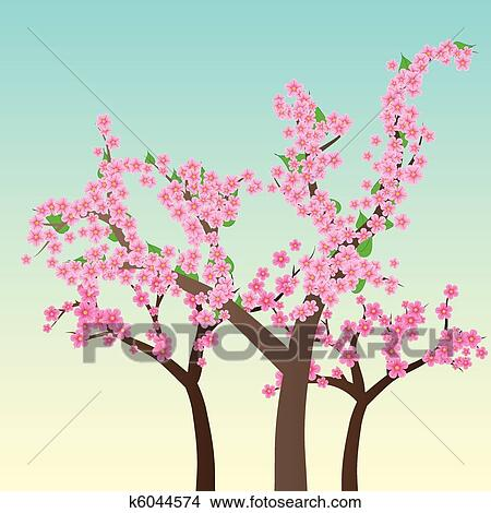 Clipart fiore ciliegia fiori di sakura albero for Sakura albero