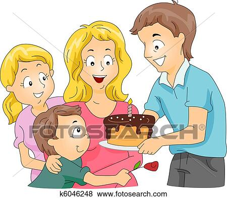 Mother S Day Cake Clip Art : Stock Illustration of Mother s Day Cake k6046248 - Search ...