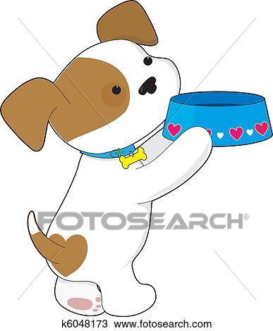手绘图 - 漂亮, 小狗,