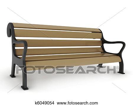 手绘图 - 长凳