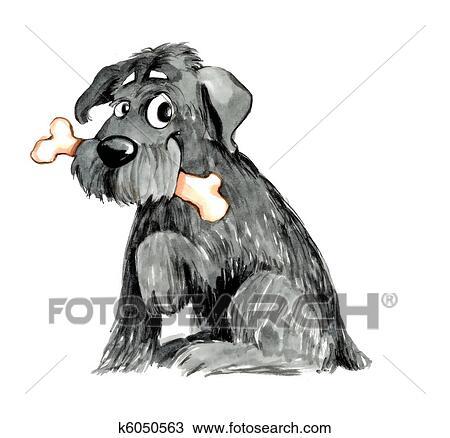 Dessin poilu chien os k6050563 recherchez des - Dessin de poilu ...