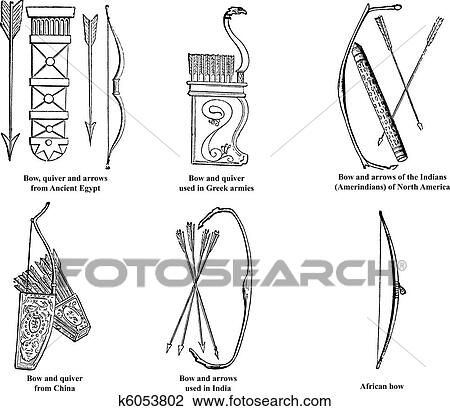 Ancient Arrow Drawing Ancient Egypt Greek Chinese