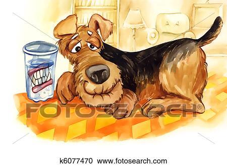 banque d 39 illustrations personne agee chien dents dentier k6077470 recherchez des. Black Bedroom Furniture Sets. Home Design Ideas