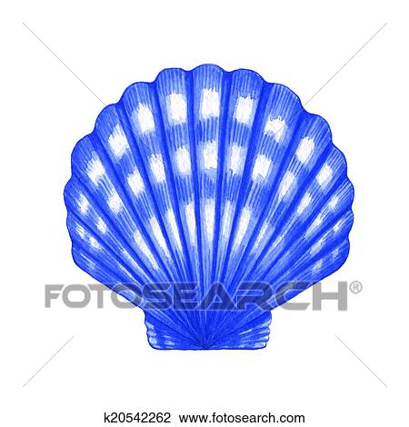 Clipart coquille coquille saint jacques k20542262 - Coquille saint jacques dessin ...