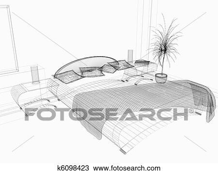 dessin chambre coucher k6098423 recherchez des cliparts des illustrations et des images. Black Bedroom Furniture Sets. Home Design Ideas