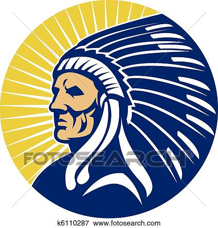 American Indian Chief Clipart American Indian Chief With
