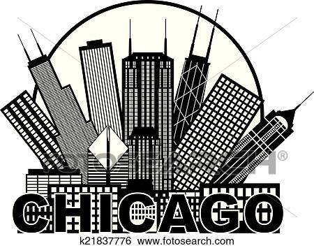 Clipart Chicago Skyline