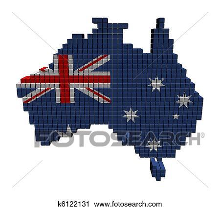 澳大利亚, 地图