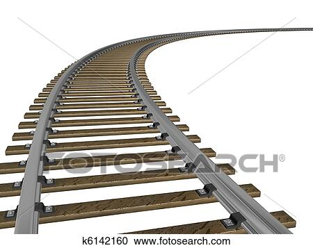 3d 描述 在中 a 火车轨道