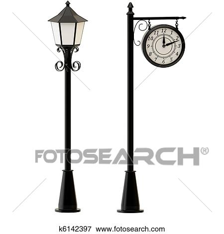Street lamp Illustrations and Clip Art. 1,982 street lamp royalty ...