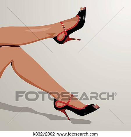 Женские ступни изящные