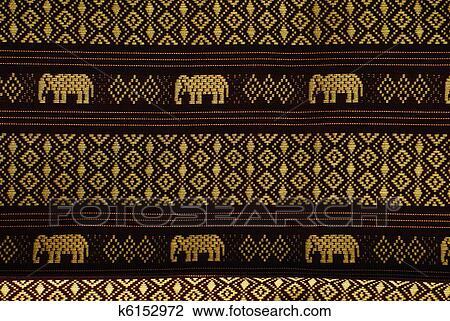 Thai Elephant Pattern Elephant Pattern Thai Style