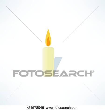 clipart kerze symbol k21578045 suche clip art illustration wandbilder zeichnungen und. Black Bedroom Furniture Sets. Home Design Ideas