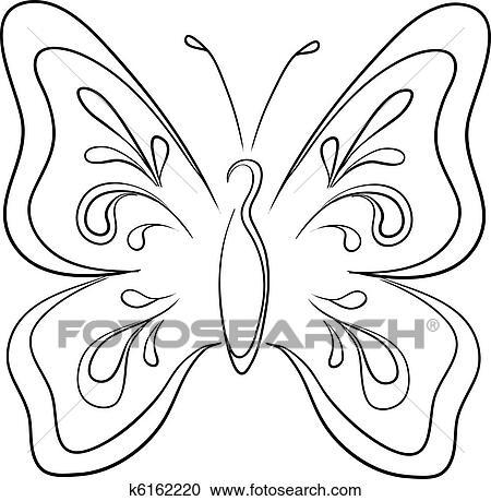 剪贴画 蝴蝶, 轮廓