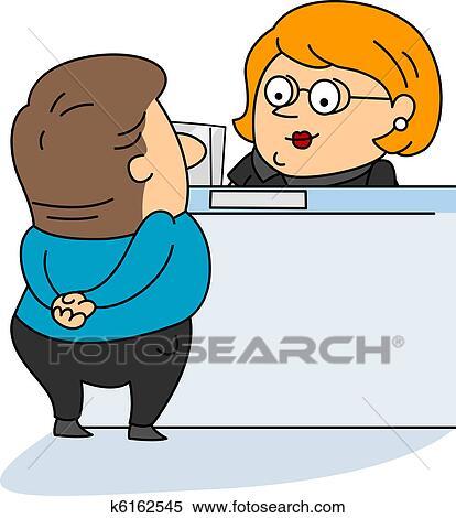 Stock Illustration of Bank Teller k6162545 Search