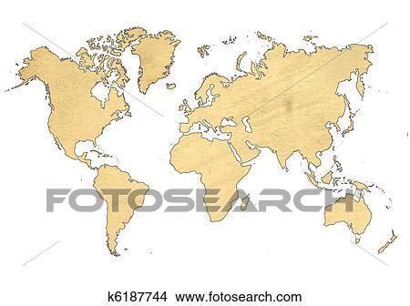 手绘图 - 世界地图