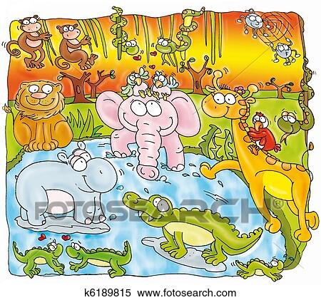 Forest Elephant Drawing Forest Animals Elephant