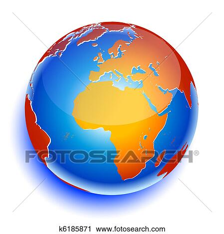 clipart of world global planet earth icon k6185871 search clip art rh fotosearch com globe clip art with children globe clipart free