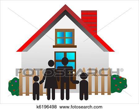 clip art jung parents happy familie k6196498 suche clipart poster illustrationen. Black Bedroom Furniture Sets. Home Design Ideas